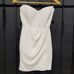 Beautiful strappless beige dress